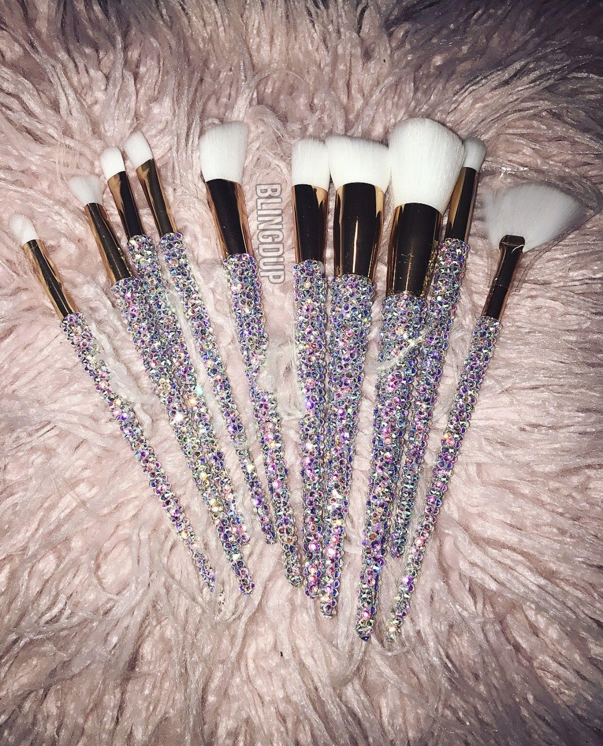 c84b061a4b Swarovski Makeup Brush Set in 2019
