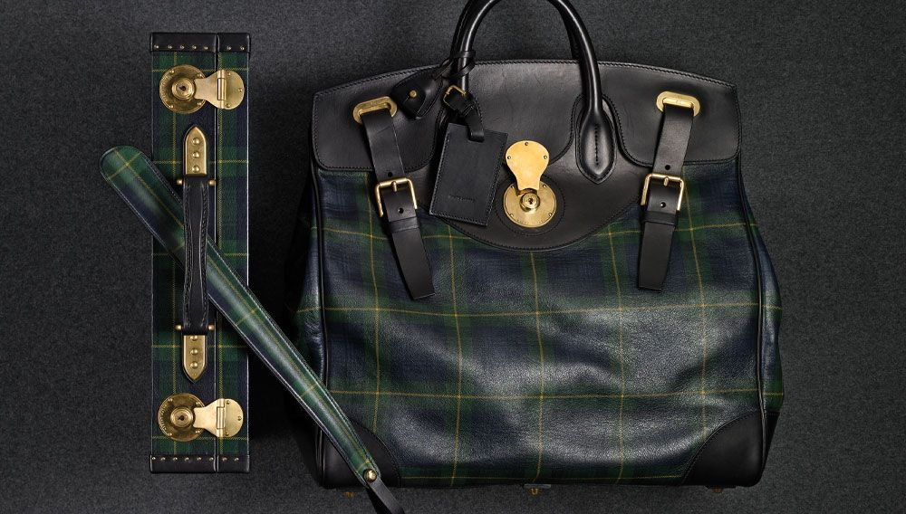 cab7a79ee69c Tartan leather items include the Cooper bag