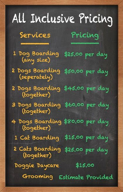 Dogs Day Inn Pricing Dog boarding prices, Pet hotel, Dog
