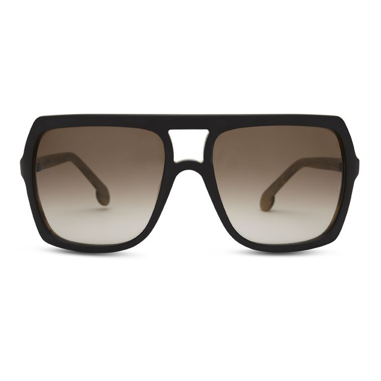 3619b740aab NEW CG SUN Ace Face in Matte Black Wood - Claire Goldsmith Eyewear -   clairegoldsmith  eyewear  sunglasses  aceface  british