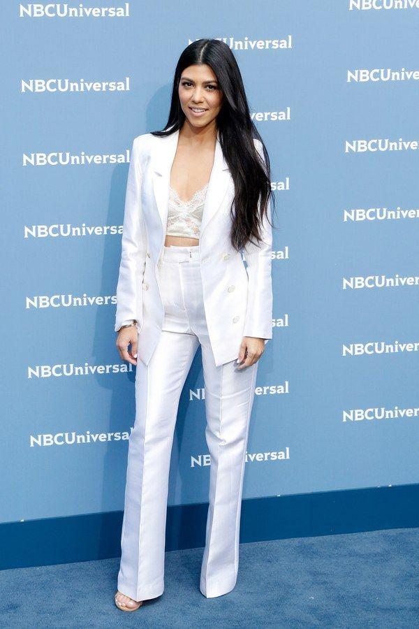 Women S White Silk Pants Suit