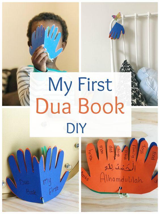 My first Dua Book- DIY   toddlers   Ramadan activities