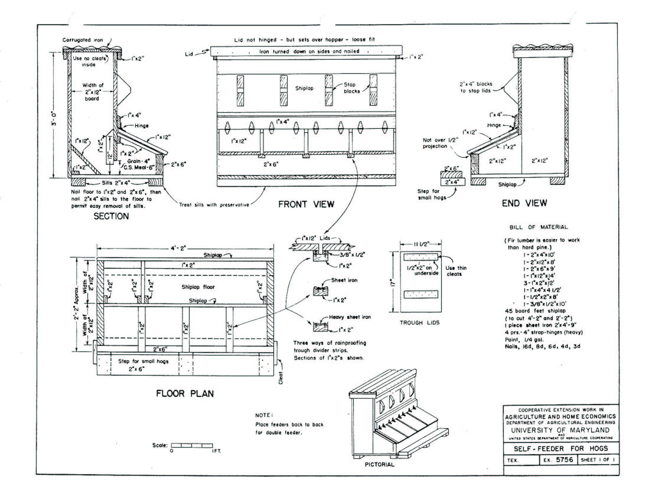 4 h pig diagram trailer brake wire the barry farm 39s feeder with plan pinterest