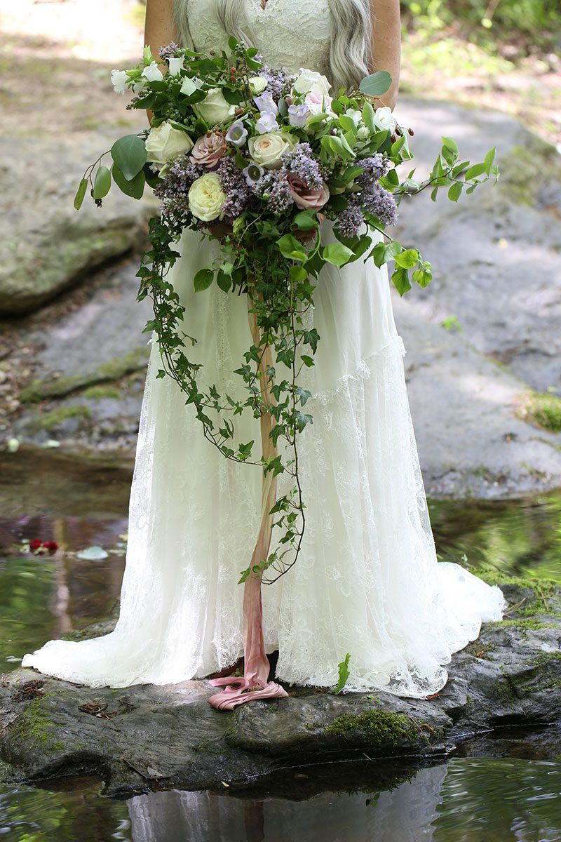 A fantastical Lord of the Rings meets Midsummer Night's Dream wedding