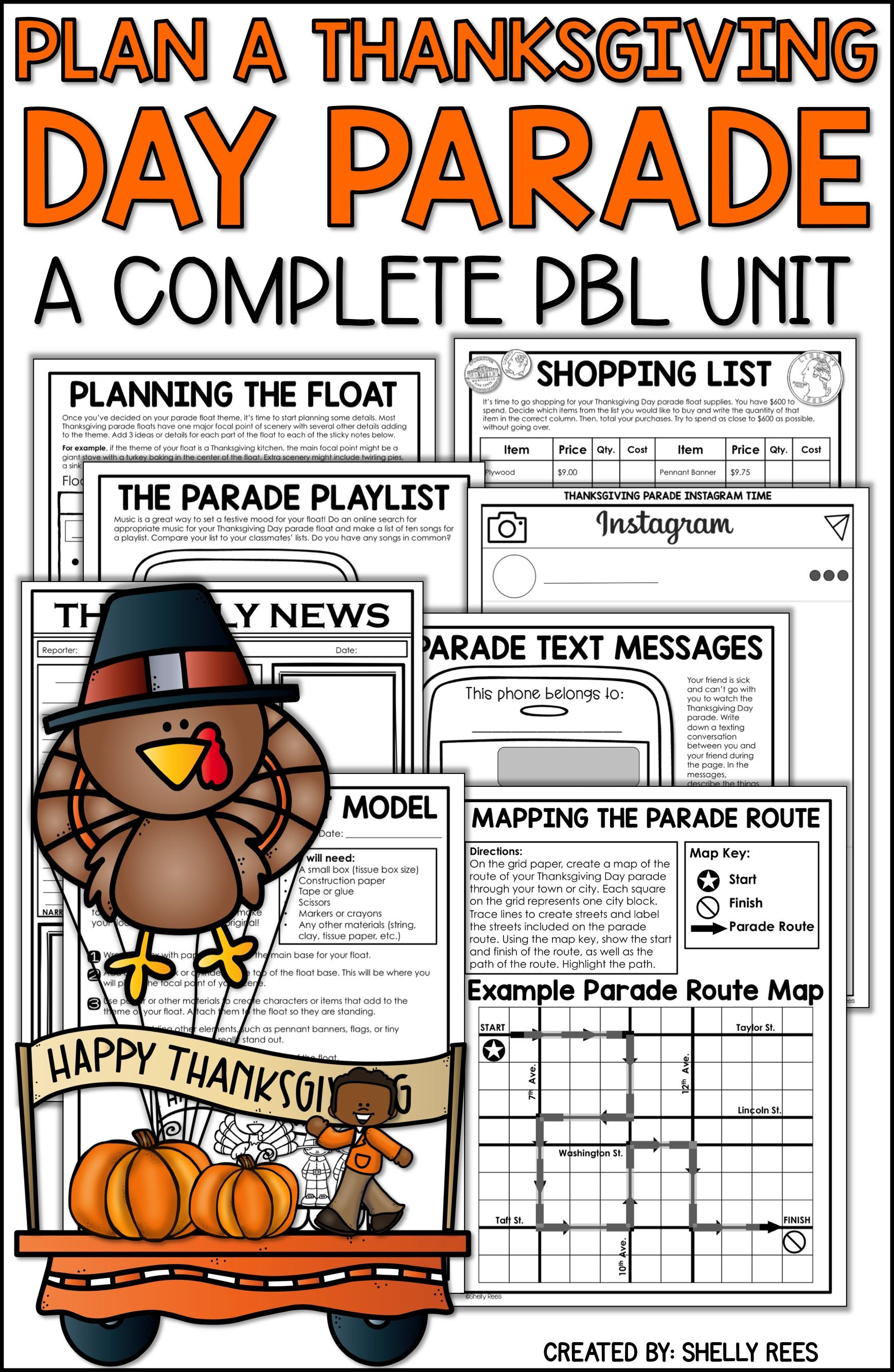 Thanksgiving Project Based Learning Is Fun For Kids In 3rd