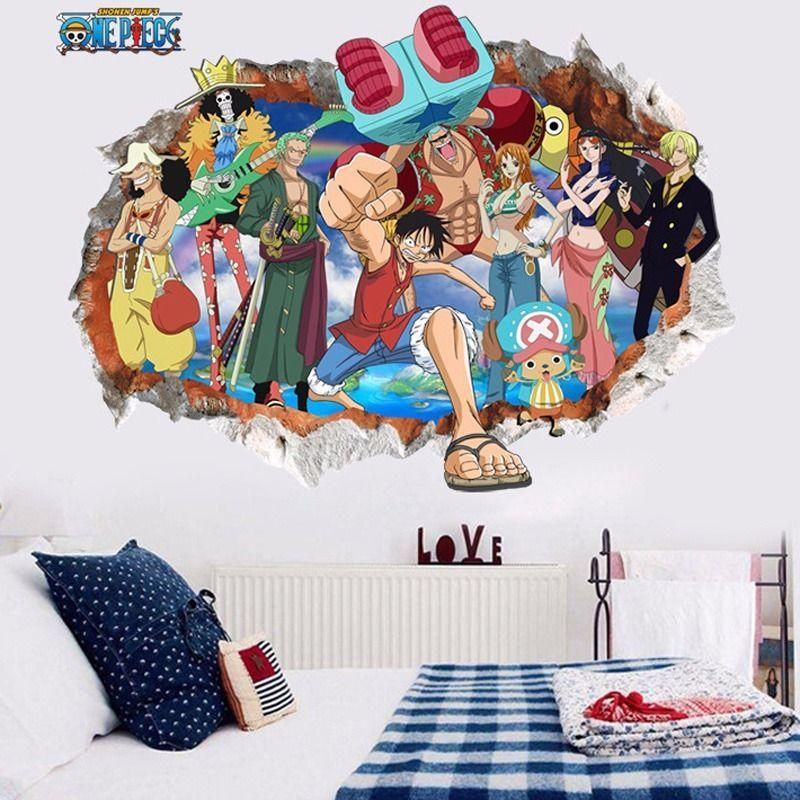 One Piece Luffy Anime Vinyl Wall Decal Room Phone Decor Sticker