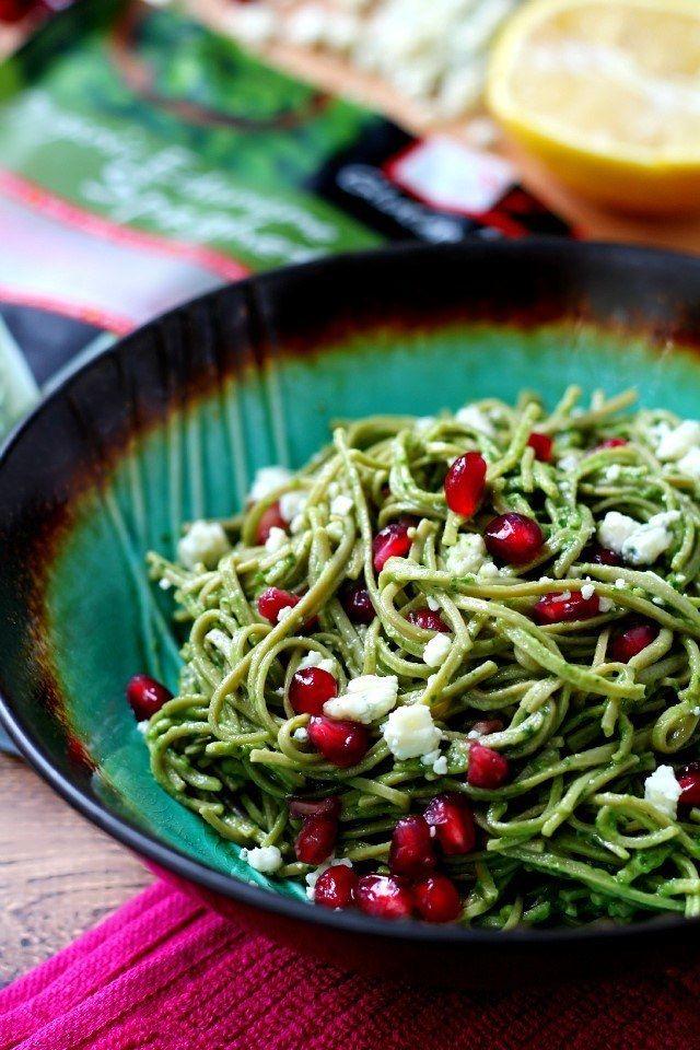 15 Minute Edamame Spaghetti With Avocado Pesto Recipe Edamame