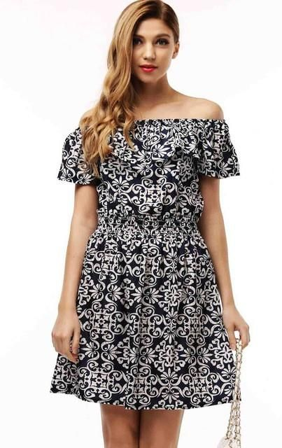 dd638cd7a34 Fashion new Spring summer plus size women clothing floral print pattern  casual dresses