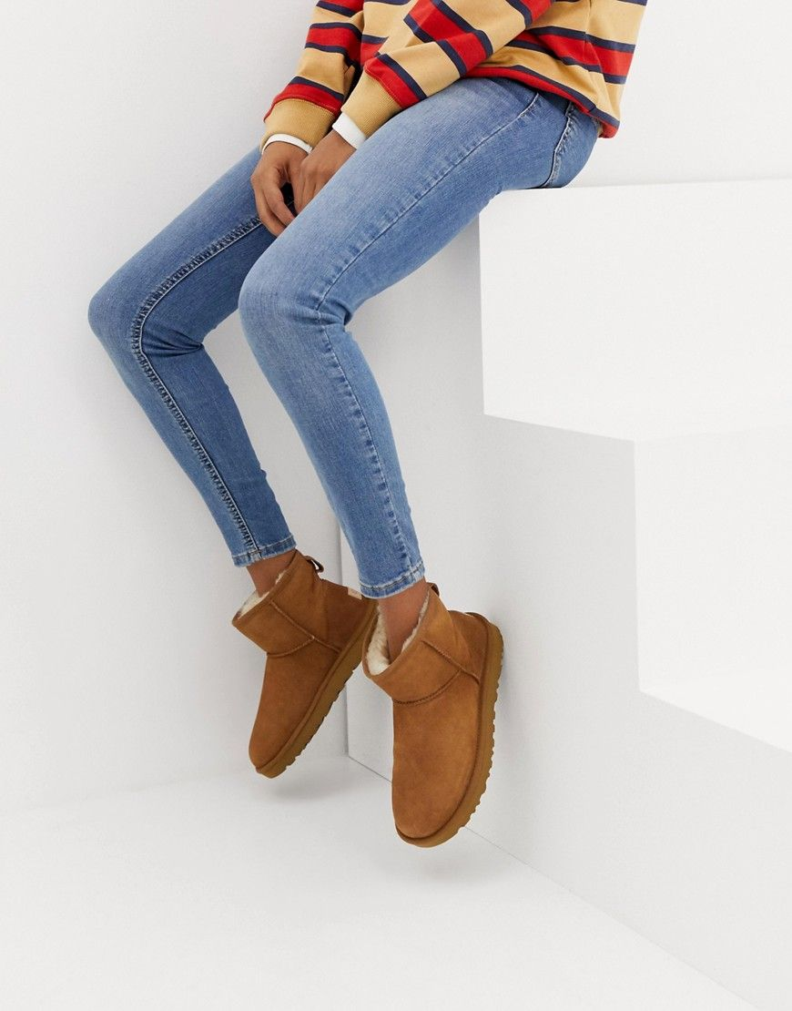 Ugg Classic Short Ii Shearling Ankle Boots In Brown Modesens Ugg Classic Mini Ugg Classic Ugg Boots Outfit