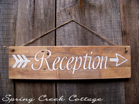 Signs Reception Weddings Wedding Decor by springcreekcottage