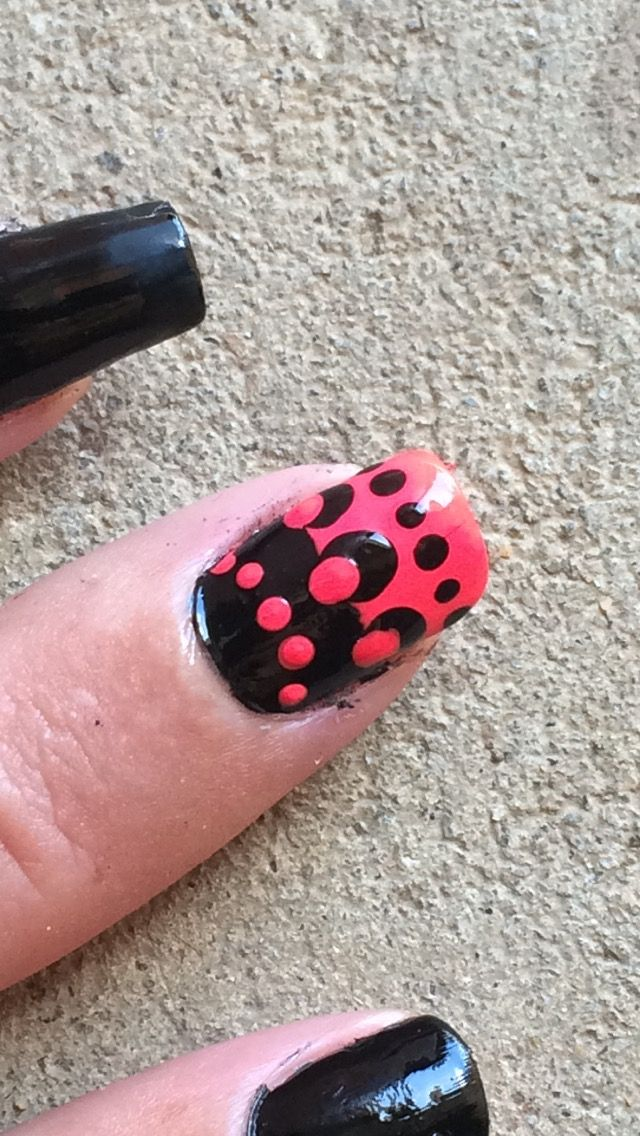 Black And Pink Toothpick Nail Art My Nail Art Raw Pinterest
