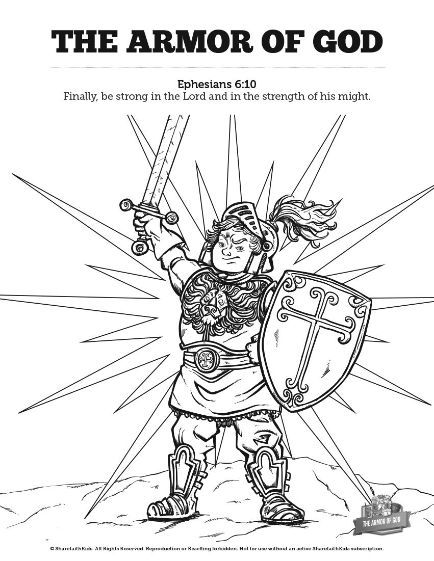 Ephesians 6 The Armor Of God Sunday School Coloring Pages Your Kids Are Going To