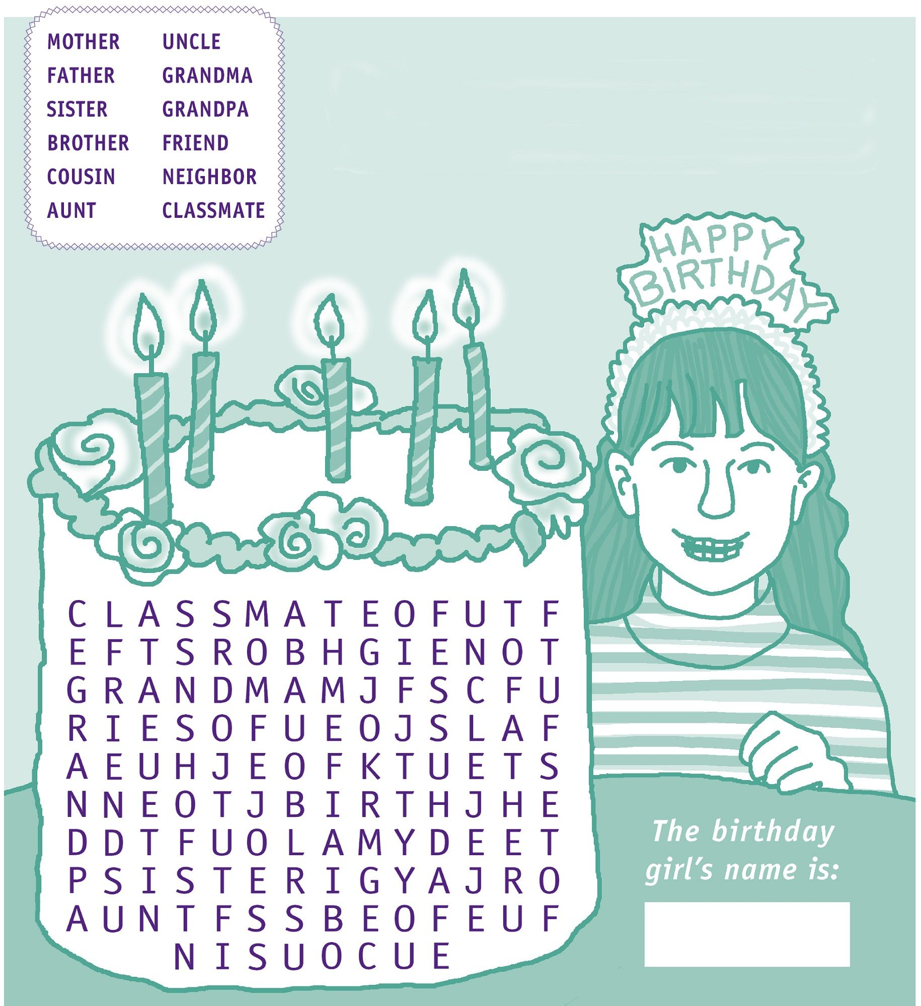 Happy Birthday Word Search
