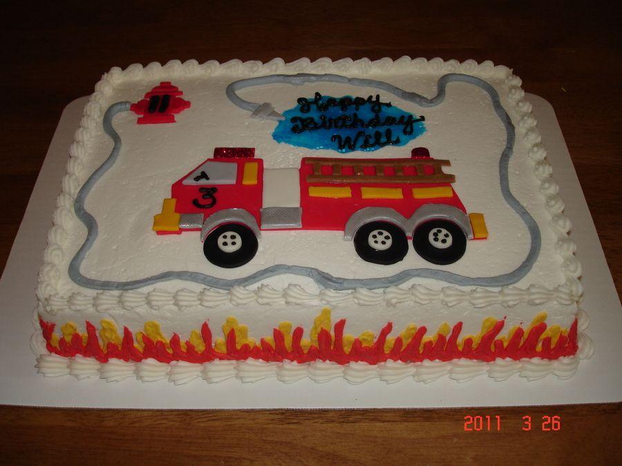 какой торт пожарная машина фото печать ему установили возле