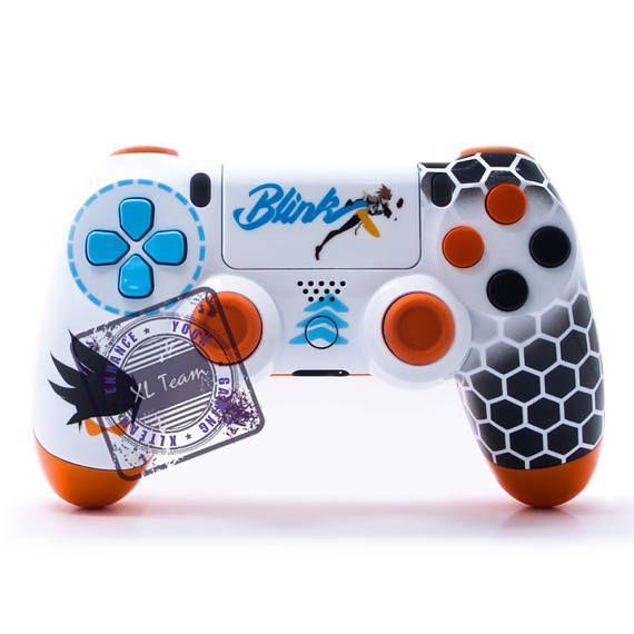 Custom Playstation 4 Ps4 Dualshock 4 Controller Overwatch Etsy Ps4 Controller Ps4 Controller Custom Dualshock