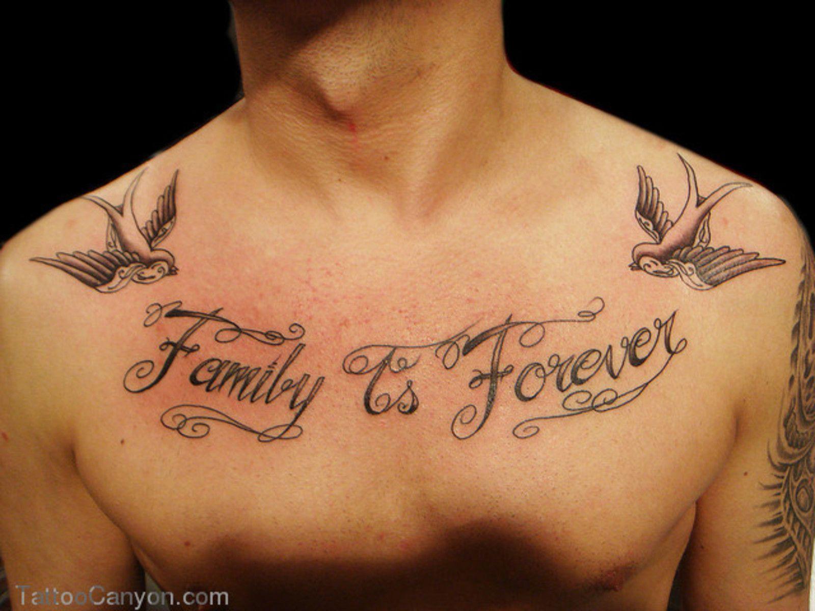 1493fb27e3cbb Family Quote Tattoo Designs Family is forever lettering #familytattoosformen