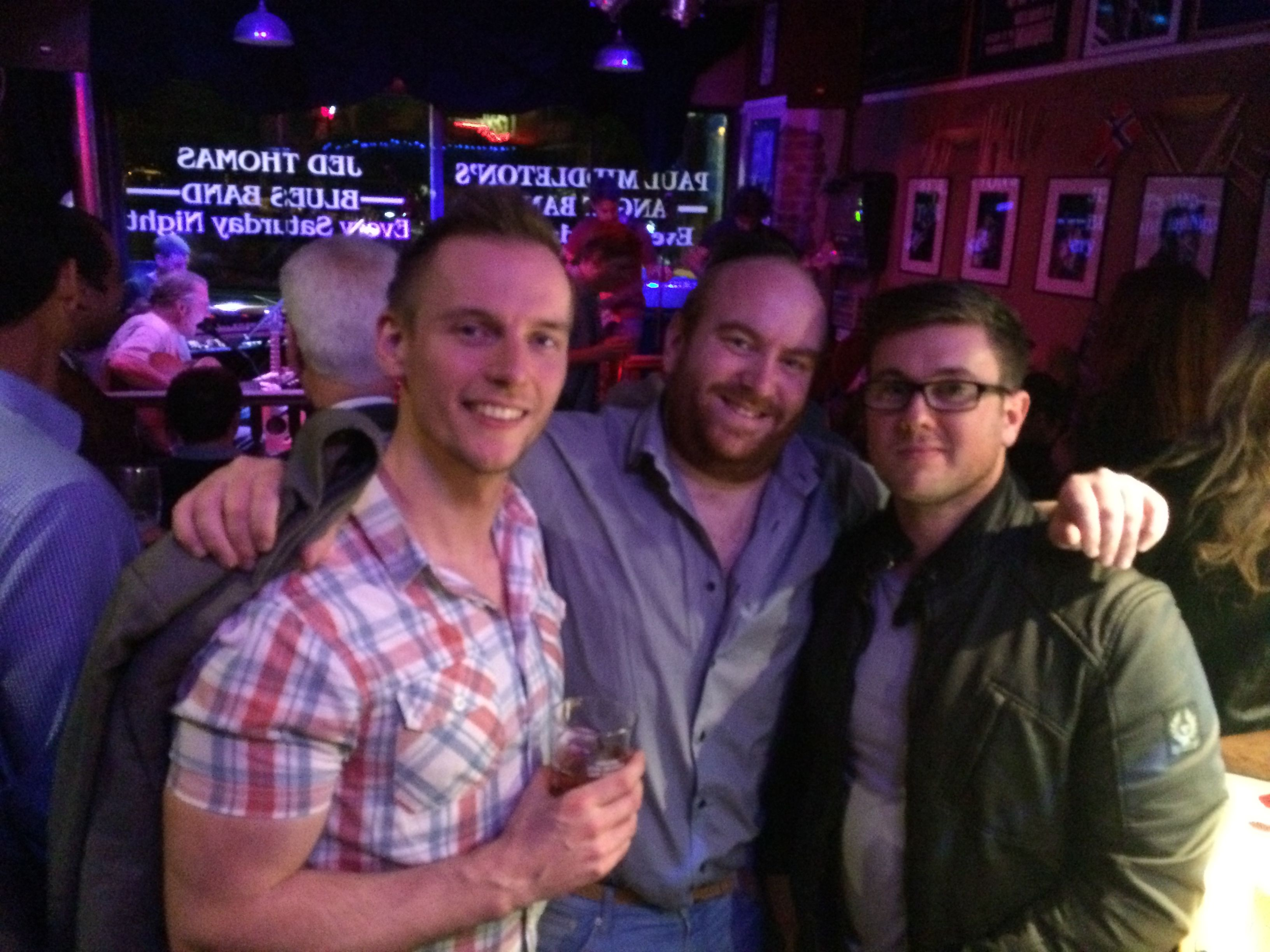 #agencylife some of the agency boys on a post work drinks gig in #harrogate! #webdesigners #bluesbar