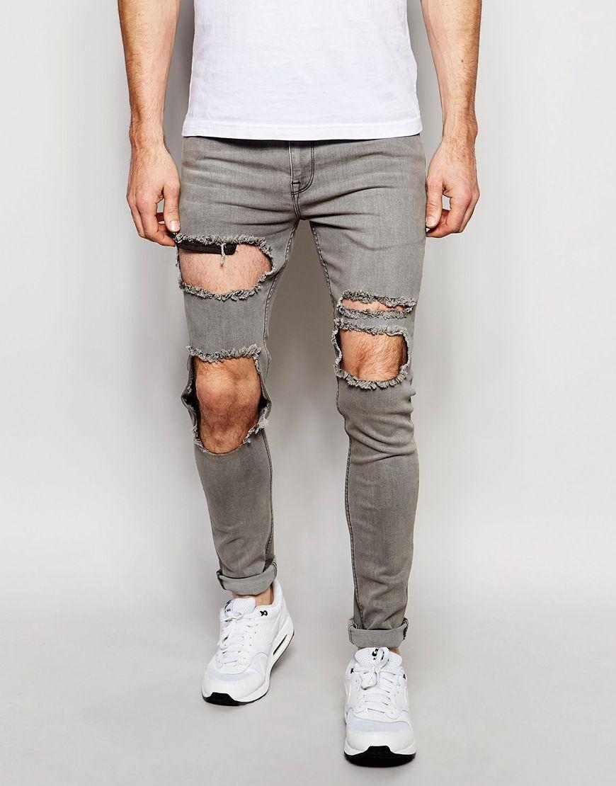 Black coated super skinny disco jeans