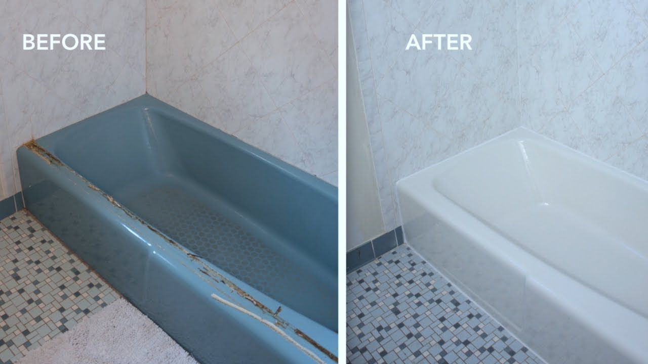 Before After How To Paint A Bathtub And Clean It Does It Last