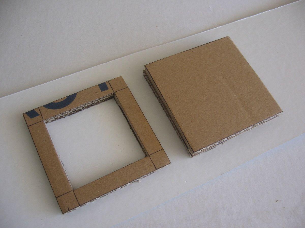 Tutoriel comment r aliser un miroir en carton meubles en - Meuble en carton tuto ...