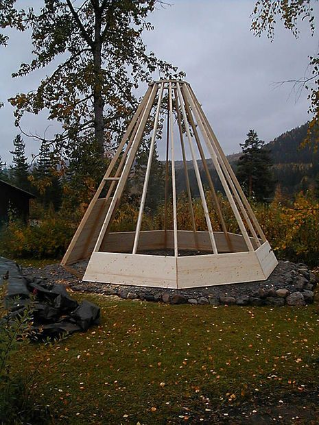 How To Build A Sami Hut In Wood Wooden Teepee Wood Tree House Kids