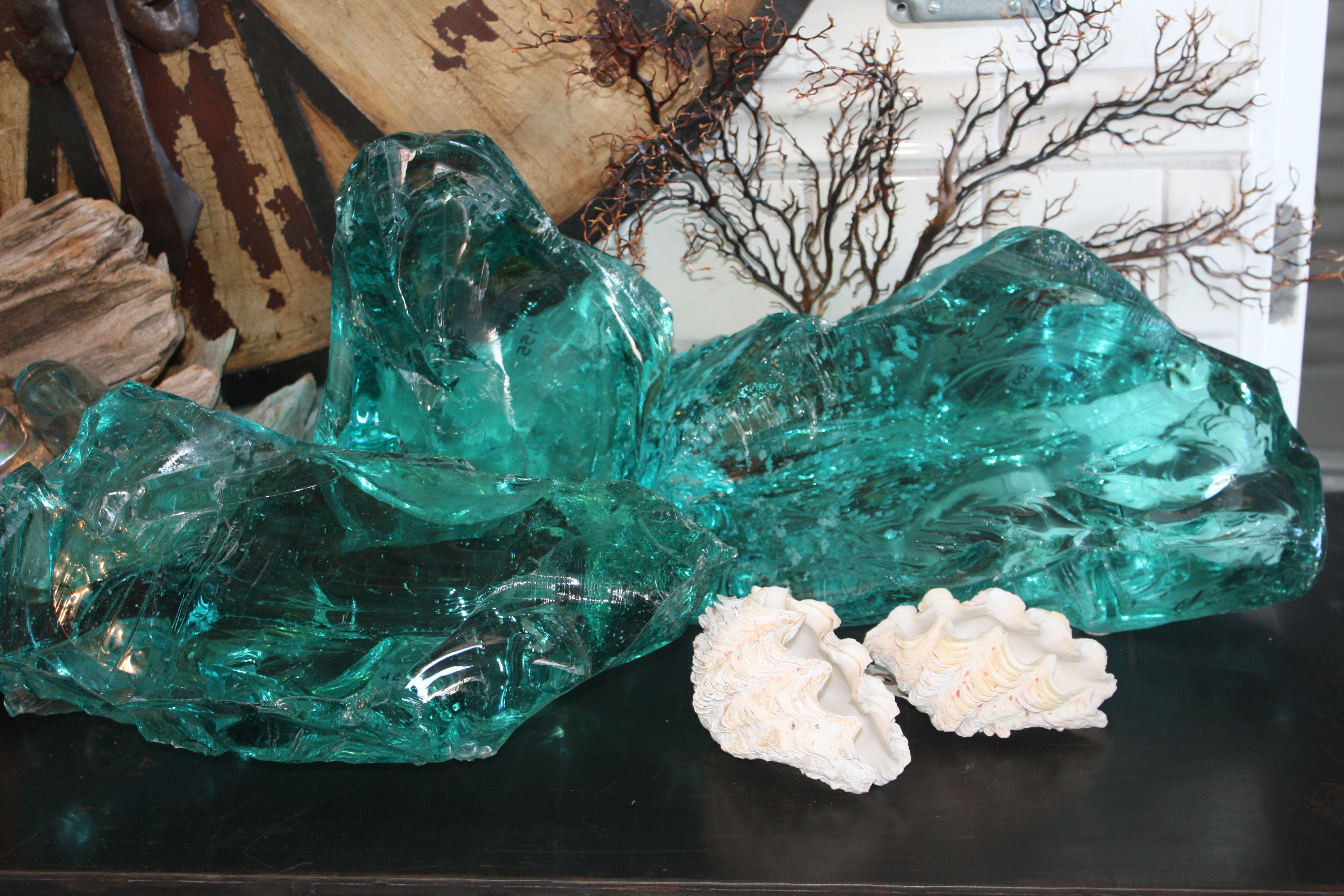 glass boulders salvaged design pinterest glass