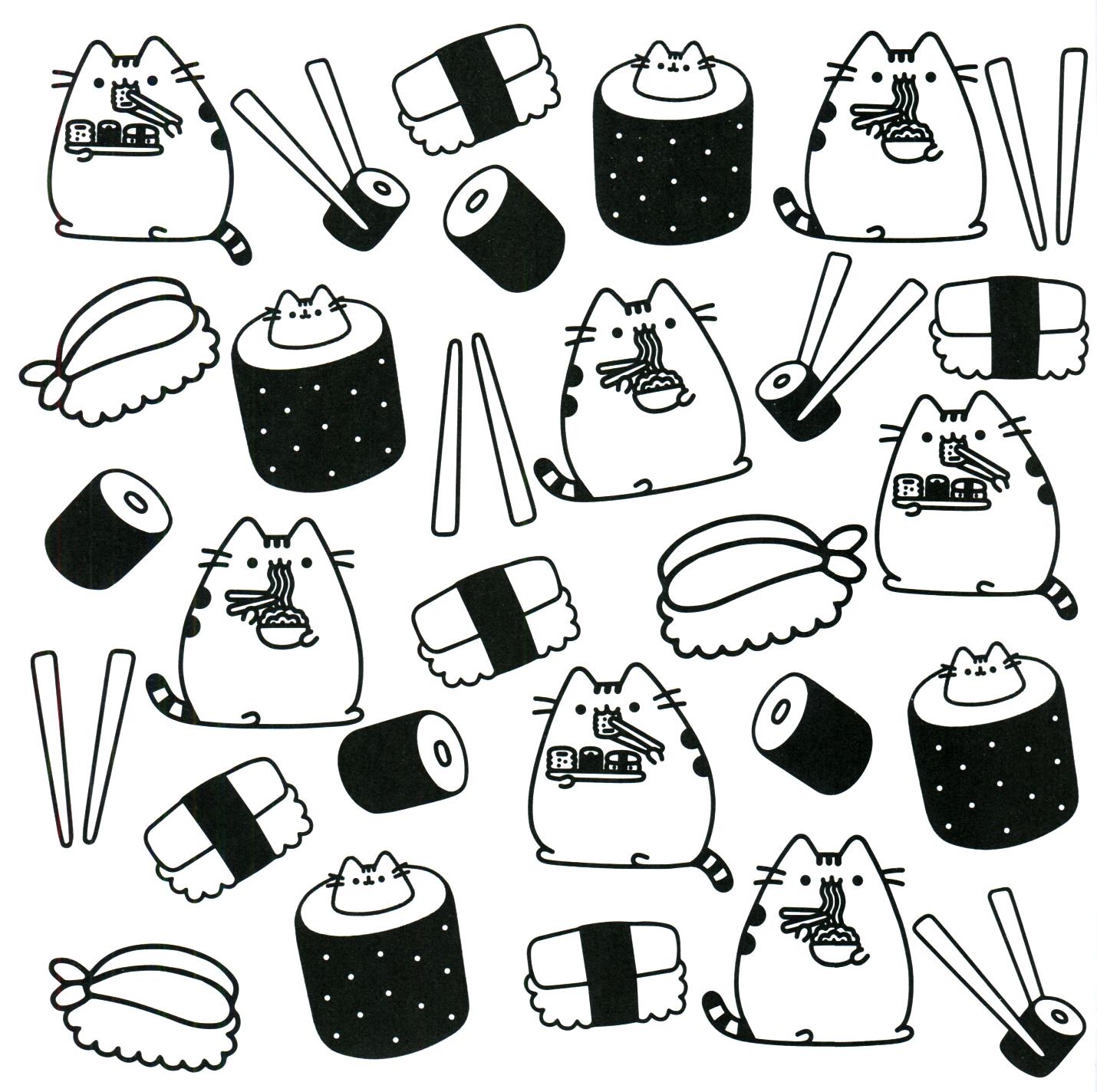 Ausmalbilder Kawaii Katzen : Pusheen Coloring Book Pusheen Pusheen The Cat Pusheen Cat
