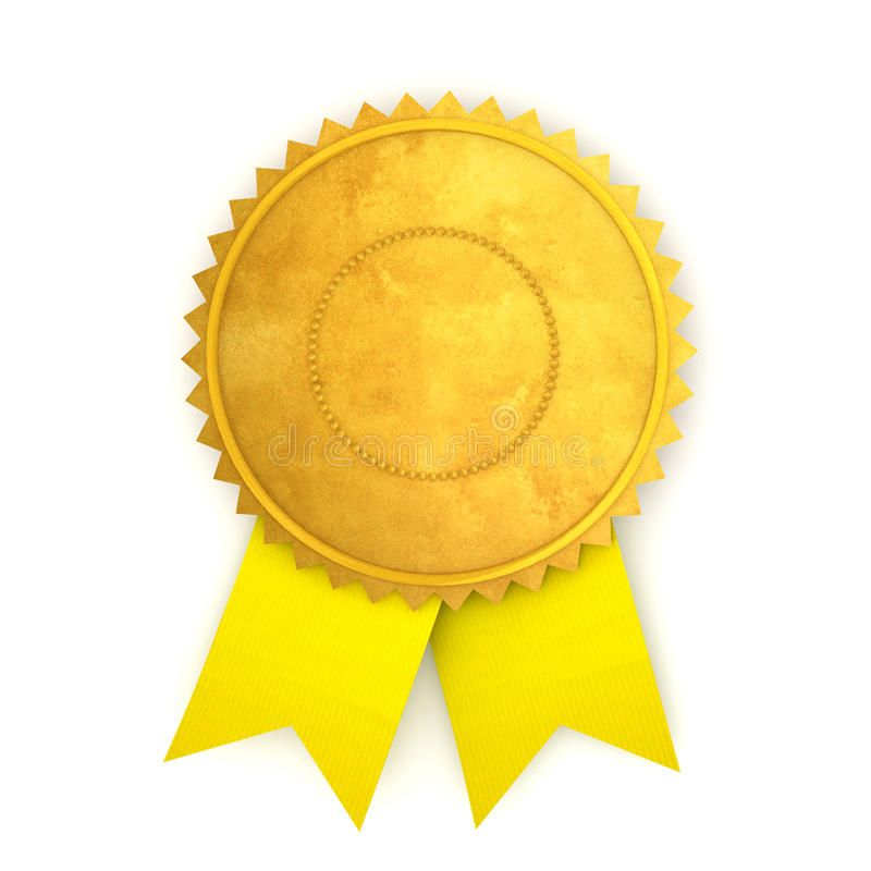 Award Ribbon. High Quality 3D Image Of Award Ribbon