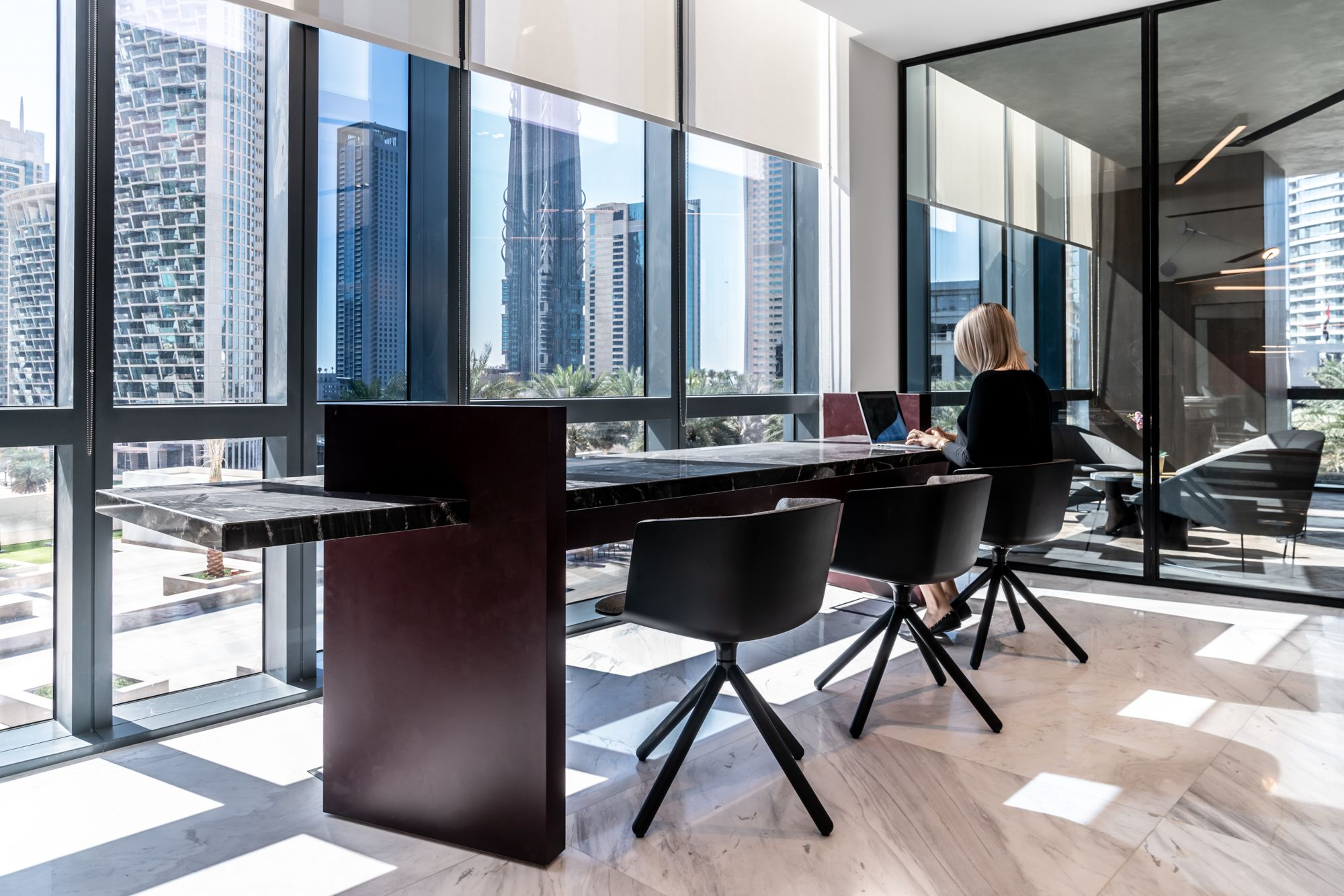 Roar Designs Flexible Work Space Inspired By The Binary Code With