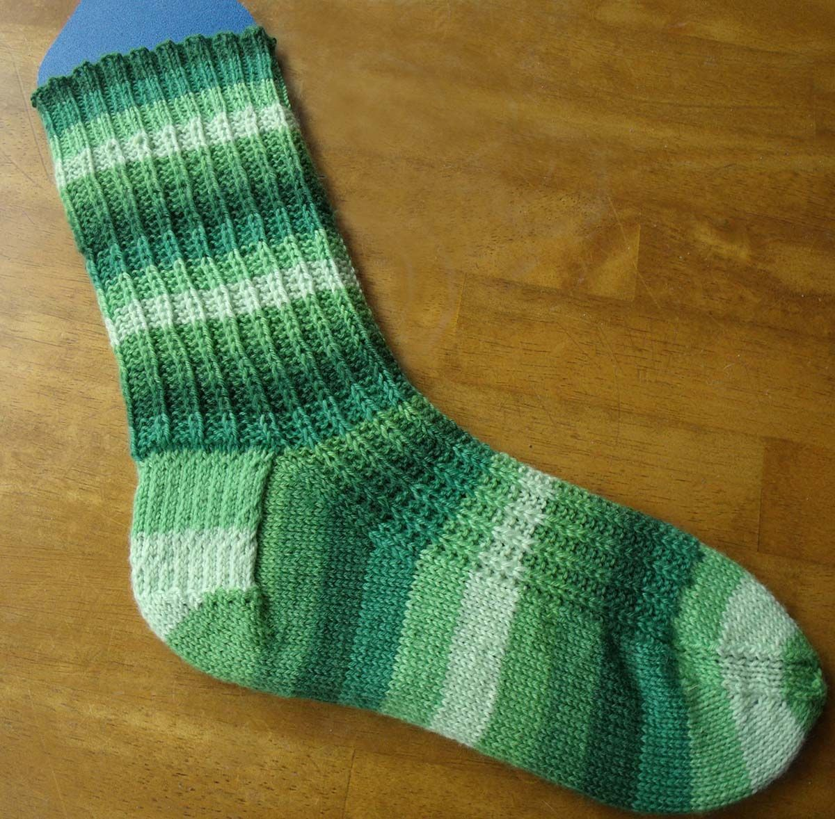 This free knit sock pattern is perfect for knitting on the go. Turn ...