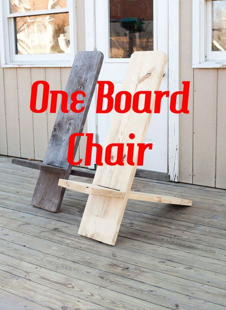 Picture of One Board Minimalist Chair, we used to have these in the barn, add a handle to the top and you've got an excellent portable chair, surprisingly comfortable.