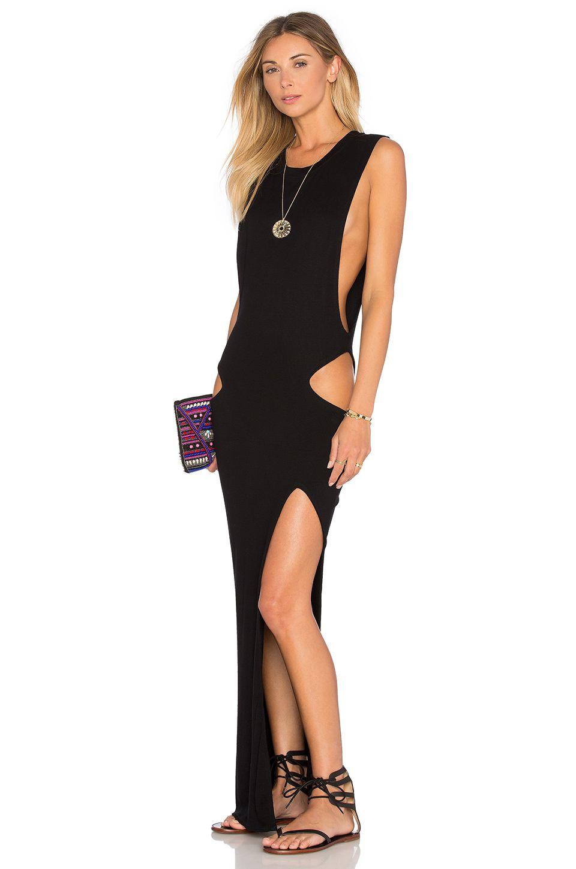 Indah thea cutout maxi dress in black my style pinterest maxi