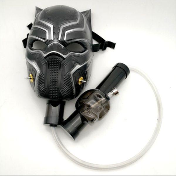 Gas Mask Bong Hookah Smoking BLACK