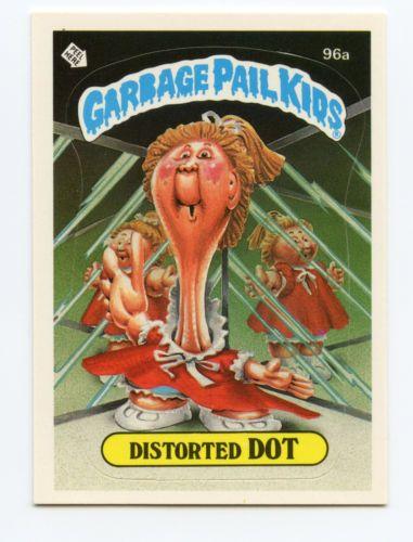 Garbage Pail Kids 3rd Series 96a Distorted Dot Class Bully On Back 1986 Topps Garbage Pail Kids Garbage Pail Kids Cards Garbage