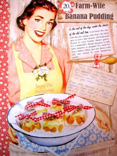 Banana Pudding Recipe ...Watermelon and Fireflies Cookbook ..By Aunt Ruthie of Sugar Pie Farmhouse . Sneek peek of the inside ..So so so Farmhouse Sweet !!! Grab your copy now ...