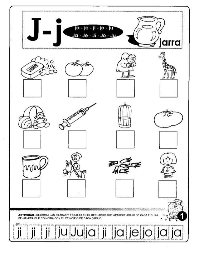 Consonantes La Letra Jj Ja Je Ji Jo Ju Bundle Spanish