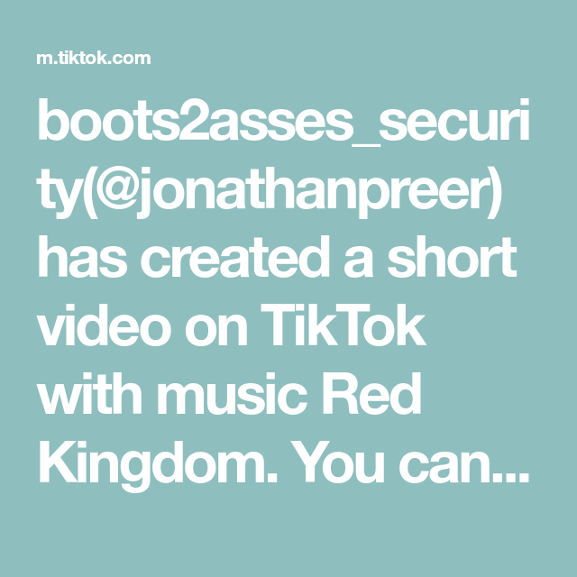 Boots2asses Security Jonathanpreer Has Created A Short Video On Tiktok With Music Red Kingdom You Can Run But You Cant Hid Correctional Officer Music Comedy