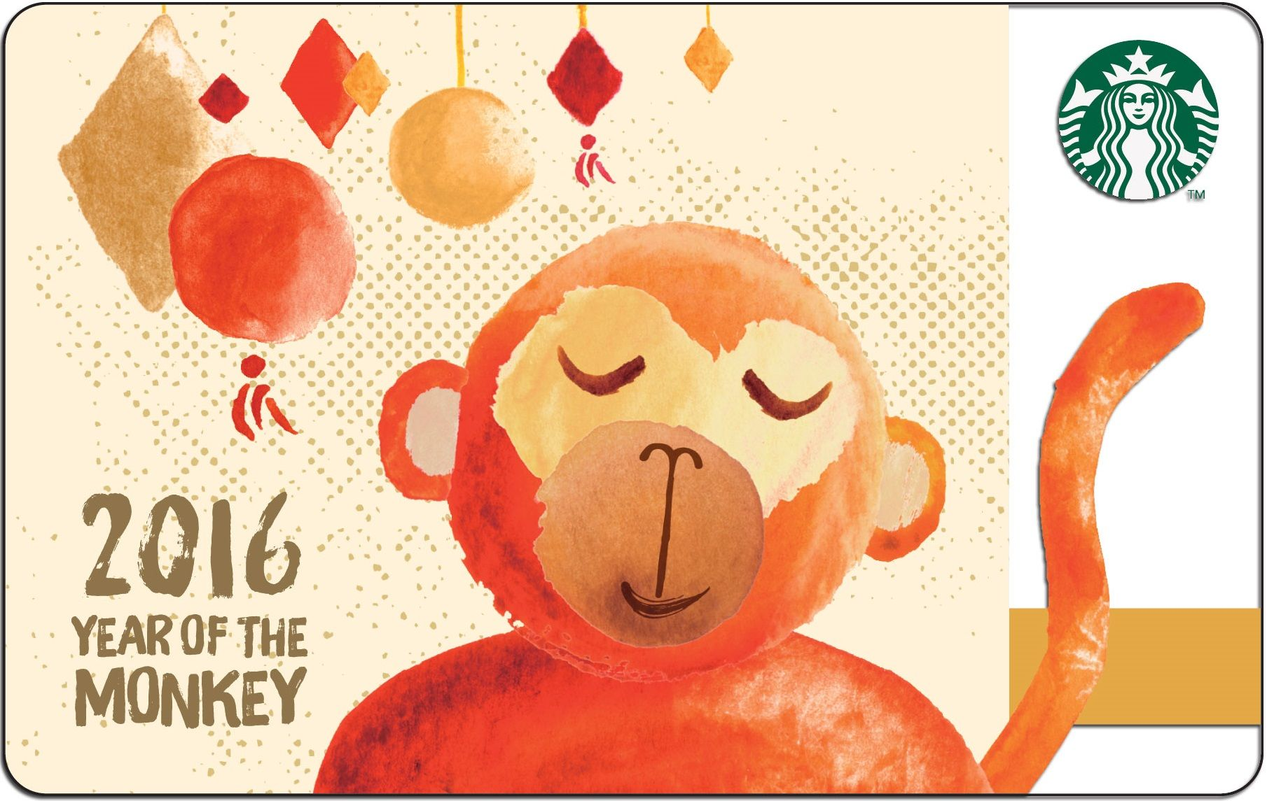 Year Of The Monkey  Lunar New Year Card 2016