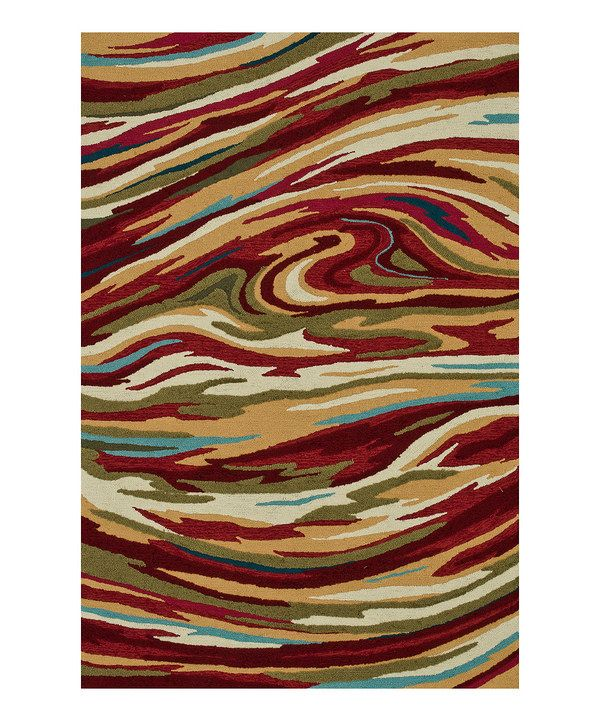 Take a look at this Red & Sage Olivia Rug on zulily today!