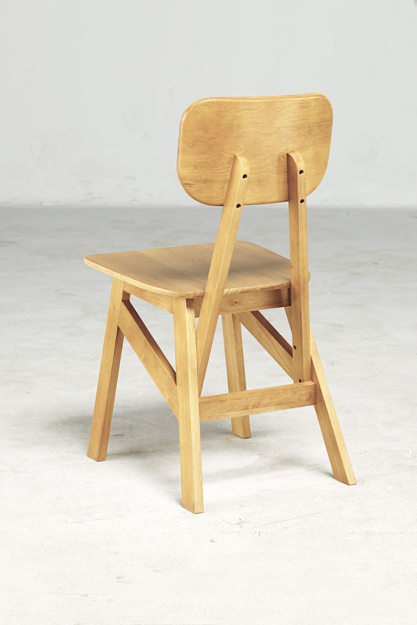 Chair design in rubber wood very sturdy comfortable modern joachim poirier
