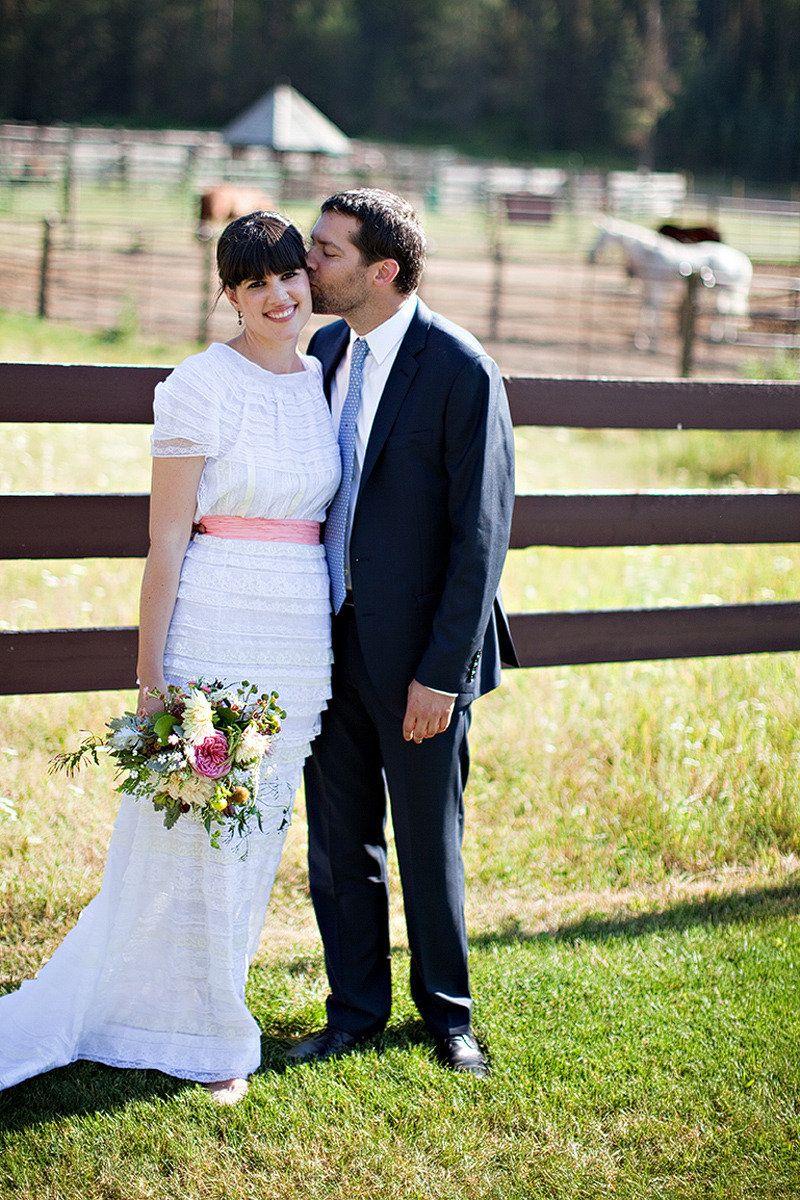 Anne of green gables wedding dress  Whitefish Wedding by Habitat Events  Green Door Photography  Nina