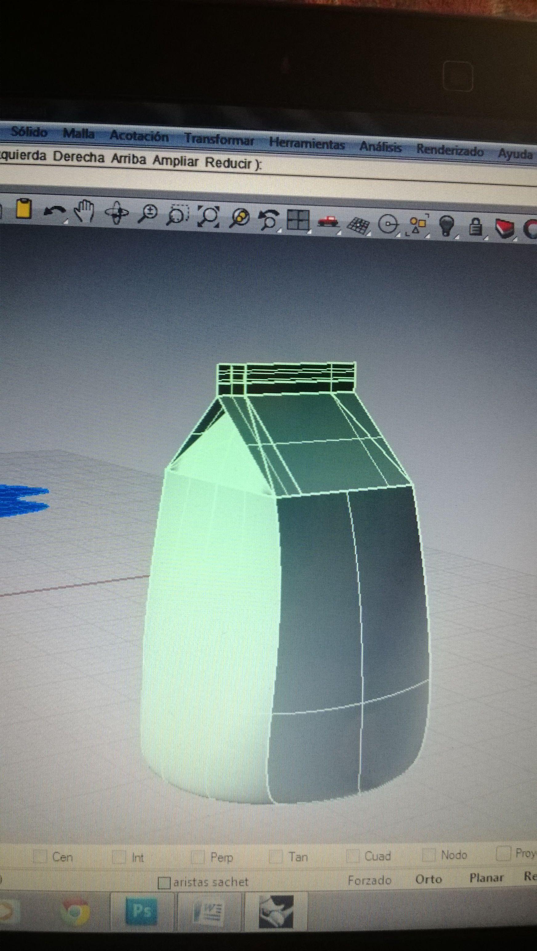 modelado caja de leche