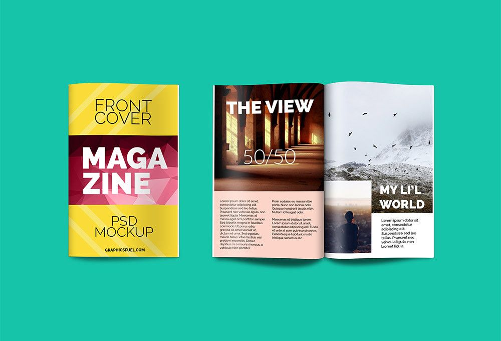 Free Magazine Mockup Fribly Magazine Mockup Psd Magazine Mockup Mockup Psd