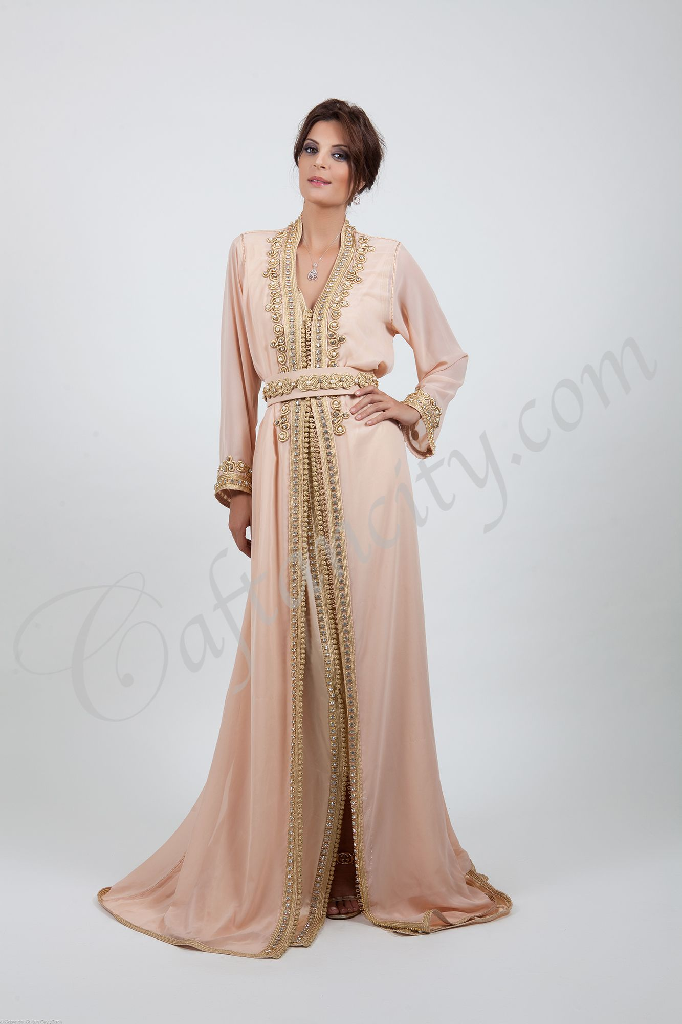 Haute couture haute couture rh nude kaftan marocain for To have and to haute dress