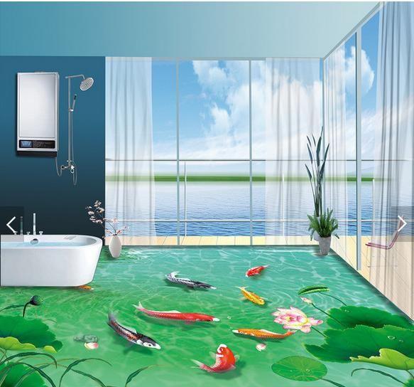 3d Paisagem Papel De Parede Personalizar 3d Banheiro