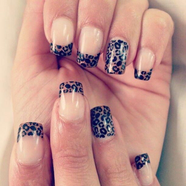 uas acrlicas decoradas con animal print de leopardo ms trabajos en http