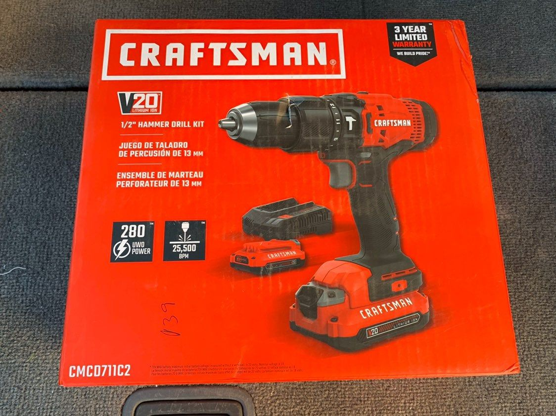 Brand New Never Used Cordless Craftsman Hammer Drill Hammer Drill Craftsman Power Tools Drill