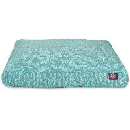 Majestic Pet Teal Navajo Medium Rectangle Pet Bed, Blue