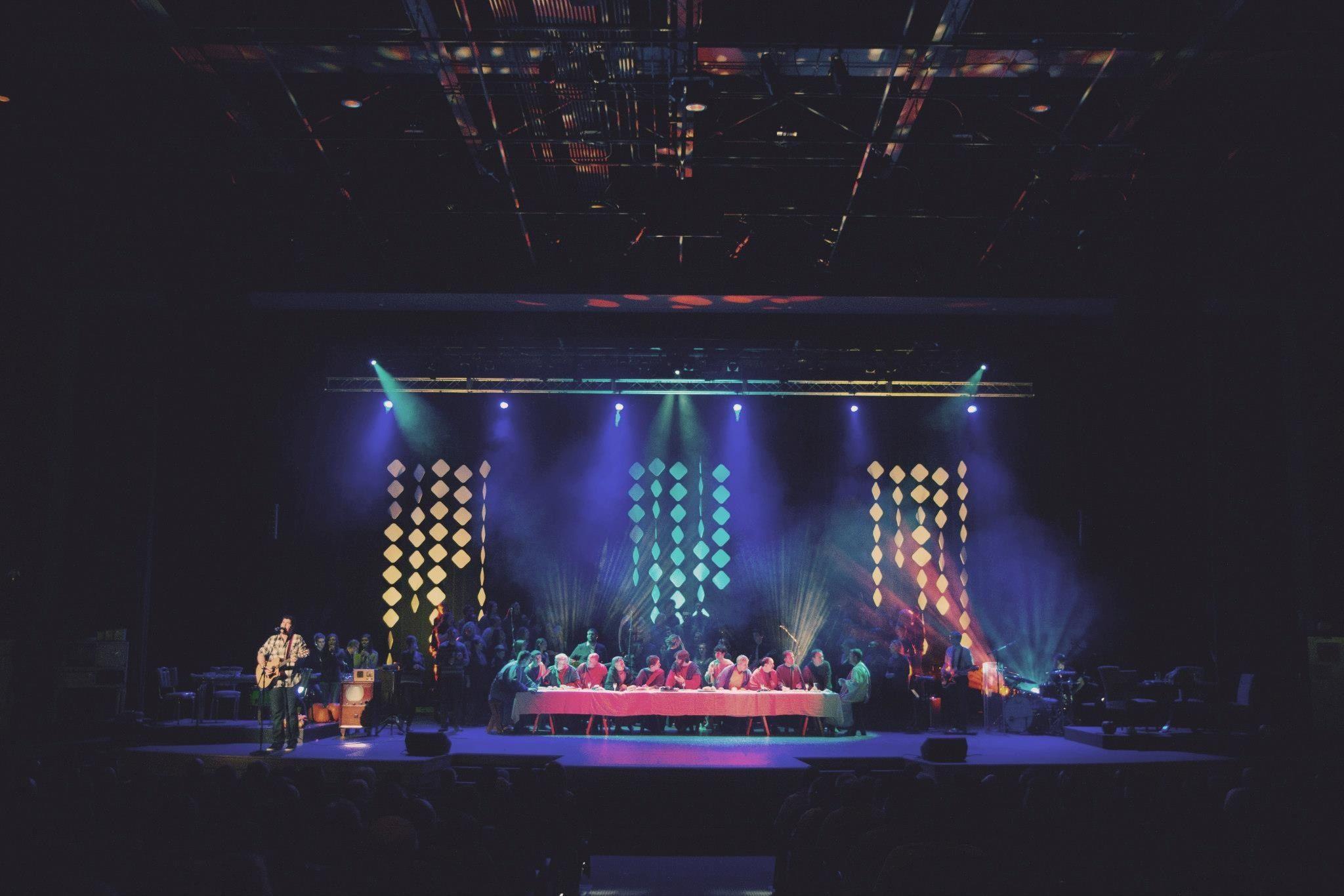 Catches Color Light Set Design Church Stage