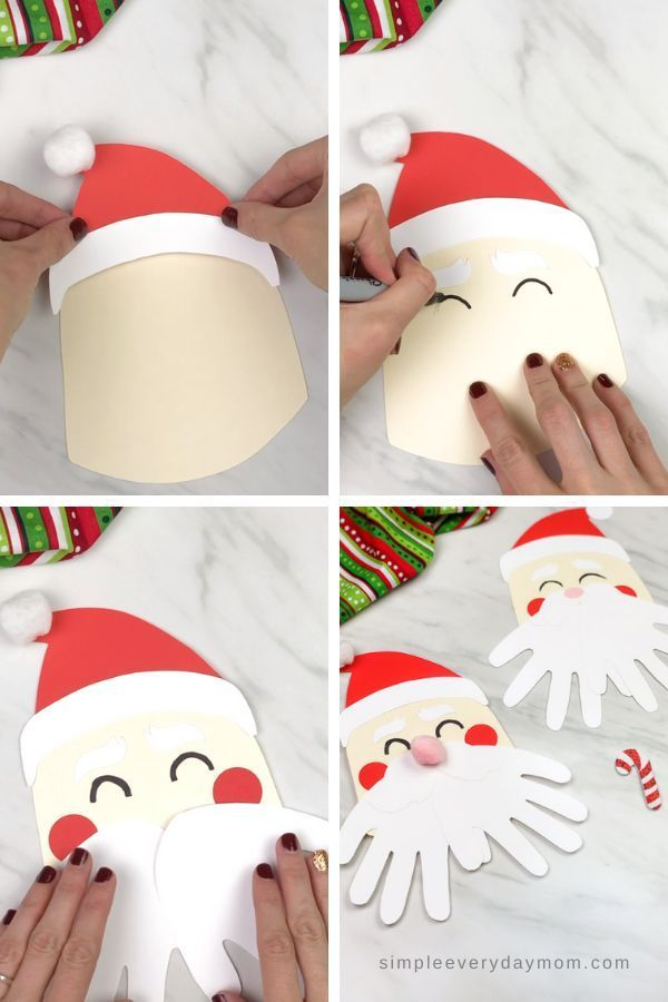 A Simple Santa Handprint Craft For Kids